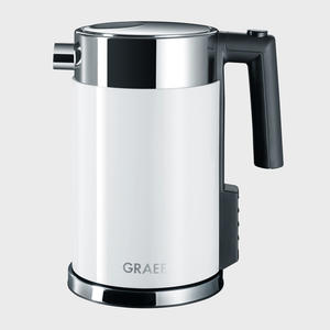 Graef WK701 Wasserkocher Edelstahlgehäuse, Acryl weiß