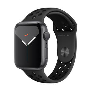 Apple Watch Nike Series 5 GPS 44mm Grau MX3W2FD/A Sportarmband Aluminiumgehäuse