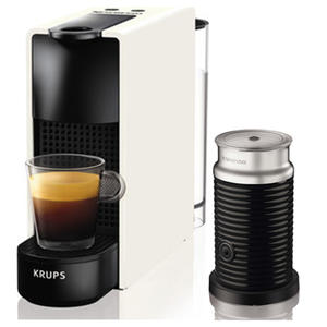 Krups XN1111 Nespresso Essenza Mini & Aeroccino weiß