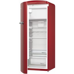 Gorenje ORB153R-L Standkühlschrank, burgundy, A+++