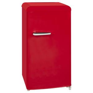 Exquisit RKS 100-16 RVA++ Rot Retro Kühlschrank ohne Gefrierfach