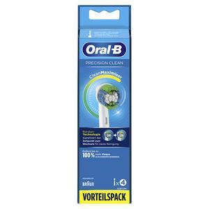 Oral-B Aufsteckbürsten 4er Precision Clean, CleanMaximizer, Weiß