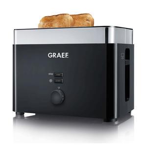 Graef TO62 Toaster Kunststoff, Schwarz