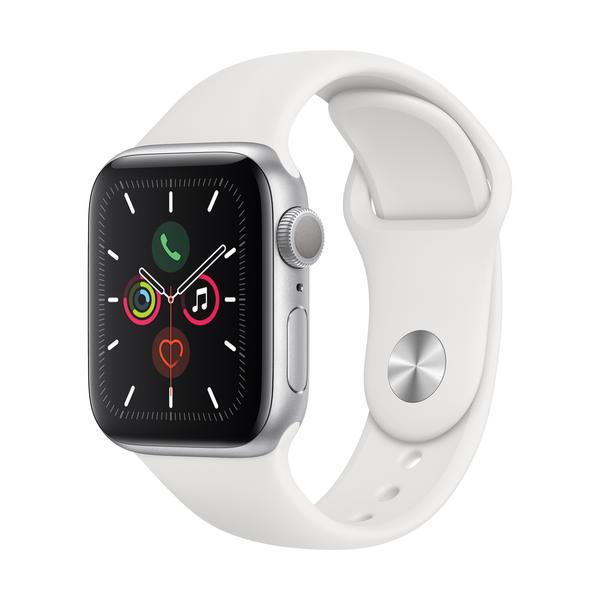 Apple Watch Series 5 GPS 40mm Silber MWV62FD/A Sportarmband Aluminiumgehäuse