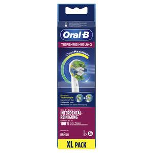 Oral-B Aufsteckbürsten 5er Tiefenreinigung CleanMaximizer, Weiß