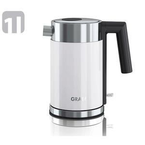 Graef WK401 Wasserkocher 1Liter weiß/Edelstahl