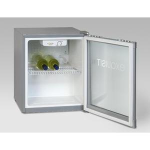 Exquisit KB 01-4.2 G Silber Mini Kühlschrank mit Glastüre