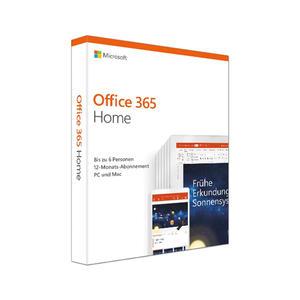 Microsoft Office 365 Home 1 Jahr Abo PKC 6GQ-01054 für PC/Mac, Product Key Card