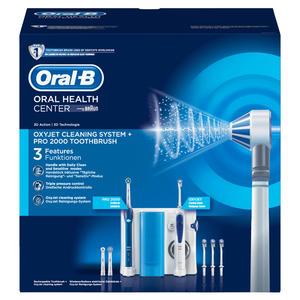 Oral-B Center OxyJet Munddusche Reinigungssystem + Oral-B Pro2
