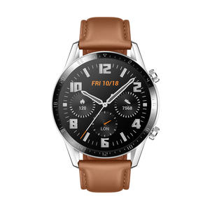 Huawei Watch GT 2 Classic 46mm silber silber mit Lederarmband pebble brown