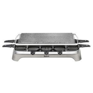 Tefal PR 457B Raclette Pierrade Raclette für 10 Personen, Grau/Edelstahl