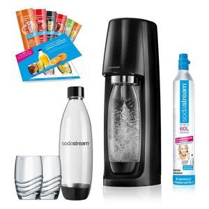 SodaStream Easy Promopack schwarz Trinkwassersprudler