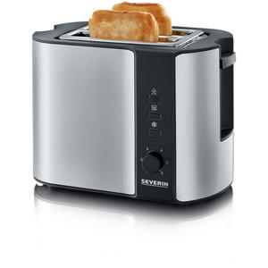 Severin AT2589 Toaster Toaster Edelstahl-gebürstet-schwarz