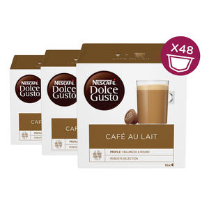 Nescafe Dolce Gusto Cafè au Lait 3er Pack, 16x10g Löskaffee & Milchpulver