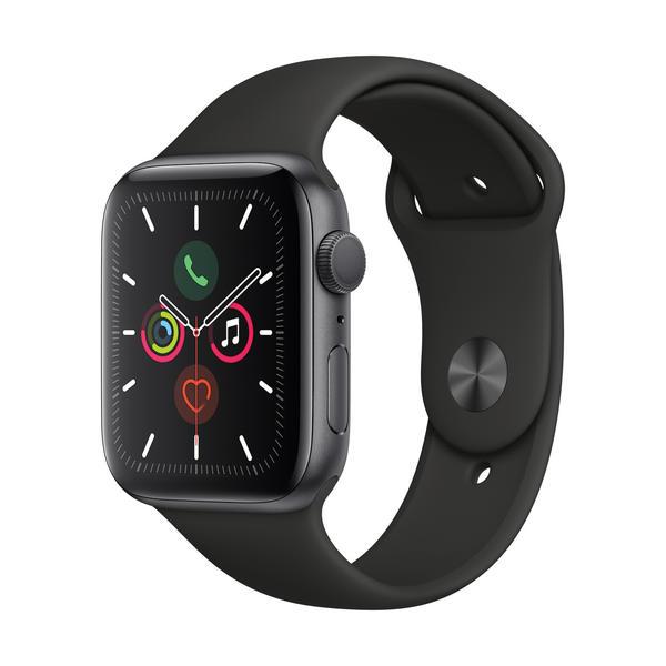 Apple Watch Series 5 GPS 44mm Grau MWVF2FD/A Sportarmband Aluminiumgehäuse