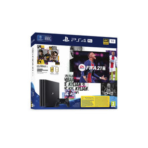Sony PlayStation 4 Pro 1TB FIFA 21 9830320 inkl. FIFA 21, schwarz, PEGI 3