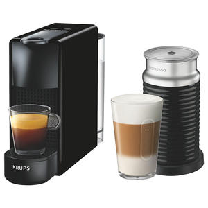 Krups XN1118 Nespresso Essenza Mini & Aeroccino schwarz Kapselmaschine Kaffeem