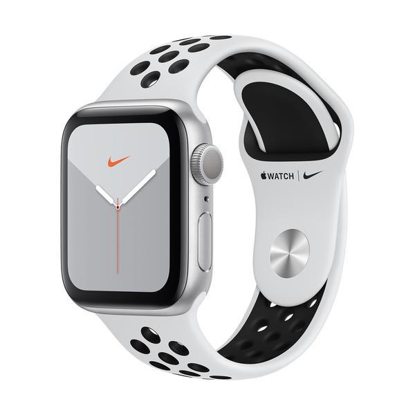 Apple Watch Nike Series 5 GPS 40mm Silb MX3R2FD/A Sportarmband Aluminiumgehäuse
