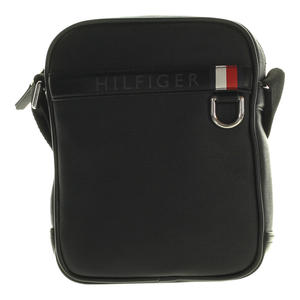 Tommy Hilfiger Mini Reporter Coated Canvas schwarz 16cm