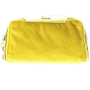 GUM Kosmetiktasche Velvet gelb 16cm