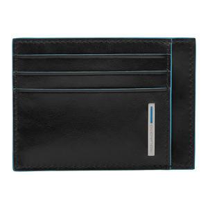 Piquadro Blue Square Kreditkartenetui schwarz 11cm