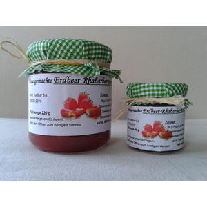 Erdbeer-Rhabarber-Konfitüre 220g