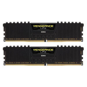 Corsair Vengeance LPX schwarz DIMM Kit 16GB (2x 8GB), DDR4-2666, CL16-18-18-35