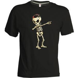 geomix Herren Shirt Skelettinho schwarz/weiß