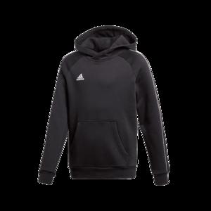 adidas Kinder Kapuzenpullover Core 18 Hoody schwarz/weiß