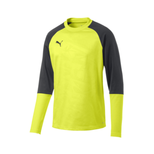 Puma Trainingsoberteil Cup Training Sweat Core gelb fluo/anthrazit
