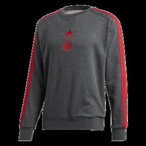 adidas Ajax Amsterdam Trainingspullover Crew Neck dunkelgrau/rot
