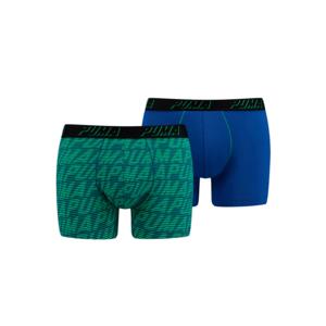 Puma Optical Logo AOP Print Boxer 2er Pack blau/grün
