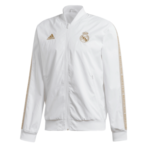 adidas Real Madrid Fanjacke Anthem weiß/gold