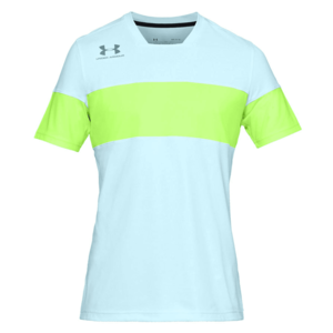 Under Armour Shirt Accelerate Premier SS Jersey pastellblau/grün fluo