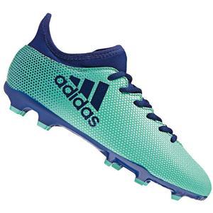 adidas Kinder Fußballschuh X 17.3 FG J türkisblau/dunkelblau