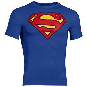 Under Armour Kompression Shirt Alter Ego Comp Superman blau/rot