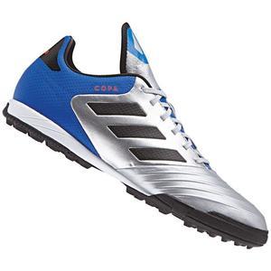 adidas Fußballschuh Copa Tango 18.3 TF Kunstrasen silber/blau