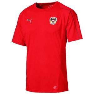 Puma Österreich Trainingsshirt rot/weiß