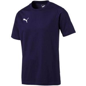 Puma Shirt Liga Casual Tee dunkelblau/weiß