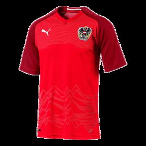 Puma Österreich Herren Heim Trikot 2018/19 rot/weiß