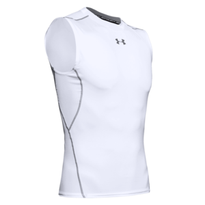 Under Armour Funktions Tank Top HeatGear Compression Top weiß/schwarz