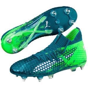 Puma Fußballschuh Future 18.1 Netfit Mx SG petrol/grün fluo