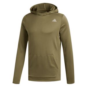 "adidas Langarm Kapuzenlaufshirt ""Own the Run"" Hoody dunkelolivegrün/silber"