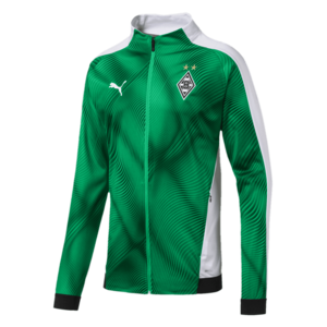Puma Borussia Mönchengladbach Aufwärmjacke Stadium grün/schwarz