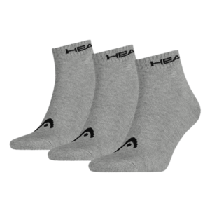 Head Socken Quarter 3er Pack grau/schwarz