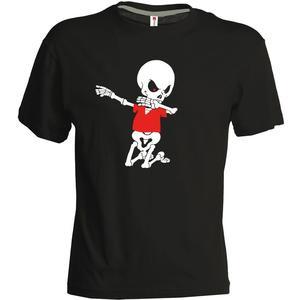 geomix Herren Shirt Skelettinho schwarz/rot