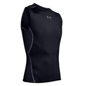 Under Armour Funktions Tank Top HeatGear Compression Top schwarz/weiß