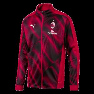 Puma AC Mailand Aufwärmjacke League Stadium rot/schwarz