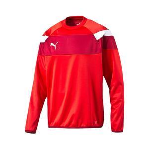 Puma Trainingspullover Spirit II Training Sweat rot/weiß