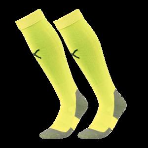 Puma Stutzen Liga Core Socks gelb fluo/schwarz